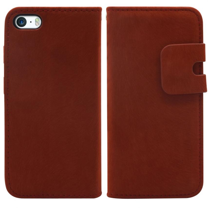 Photo réelle de Smart Cover iPhone 5/5S finition Daim Amarante