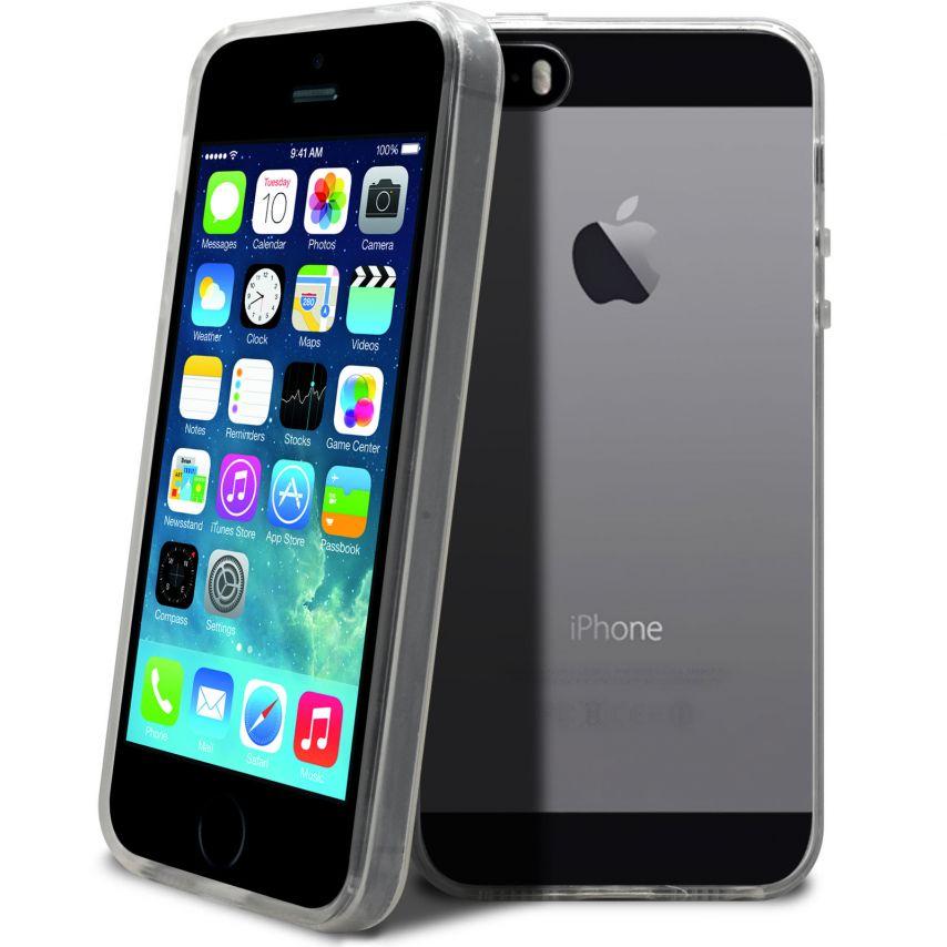 """Vue complémentaire de Coque Souple """"Crystal Clear"""" pour iPhone 5/5S"""