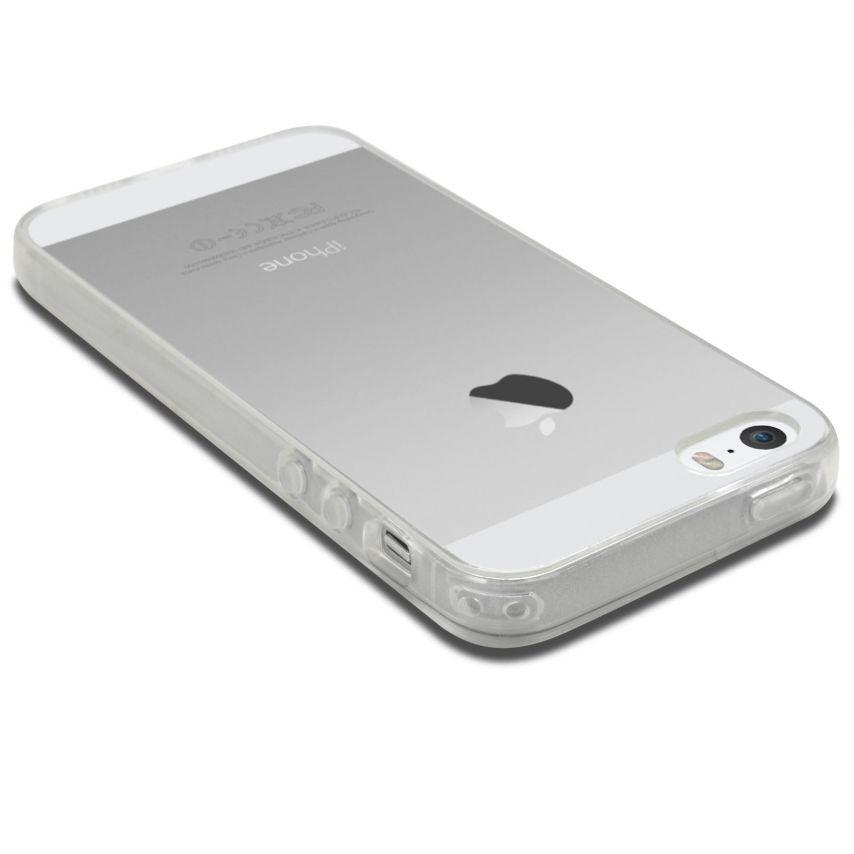 """Photo réelle de Coque Souple """"Crystal Clear"""" pour iPhone 5/5S"""