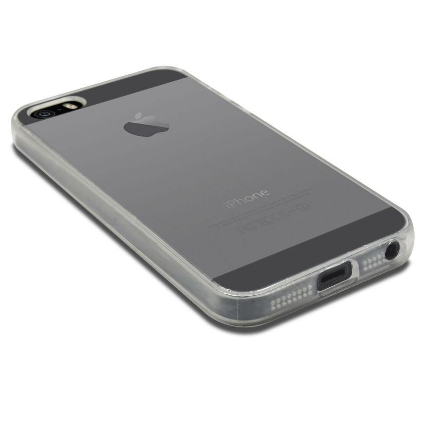 """Vue portée de Coque Souple """"Crystal Clear"""" pour iPhone 5/5S"""