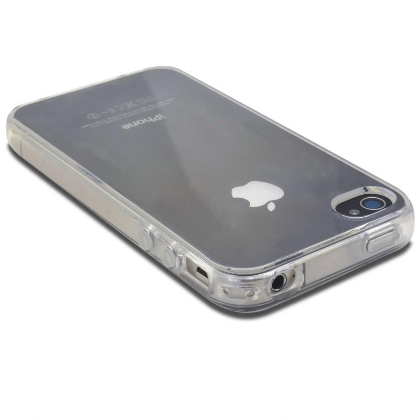 """Photo réelle de Coque Souple """"Crystal Clear"""" pour iPhone 4/4S"""