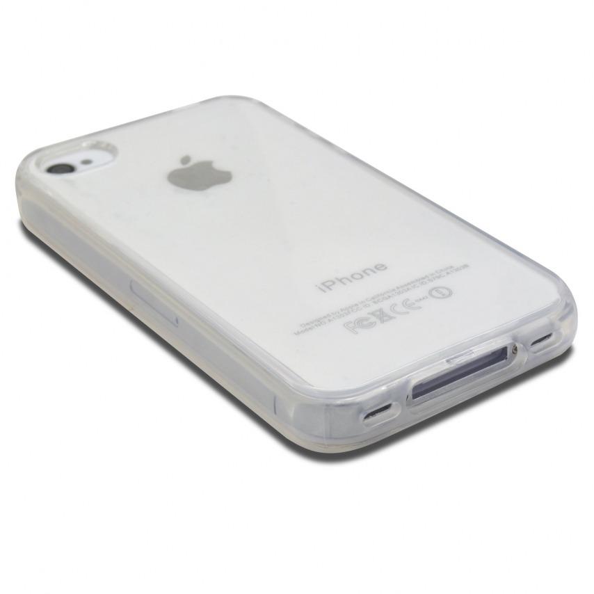 """Vue portée de Coque Souple """"Crystal Clear"""" pour iPhone 4/4S"""