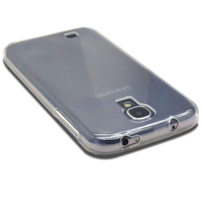 "Photo réelle de Coque Souple ""Crystal Clear"" pour Samsung Galaxy S4"