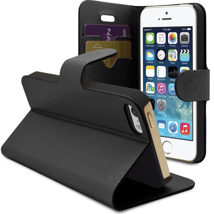 Vue complémentaire de Smart Cover iPhone 5/5S Papyrus Noire