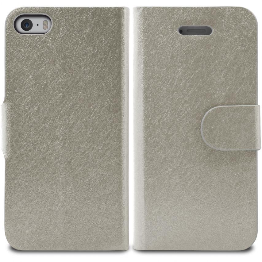 Vue portée de Smart Cover iPhone 5/5S Papyrus Argentée