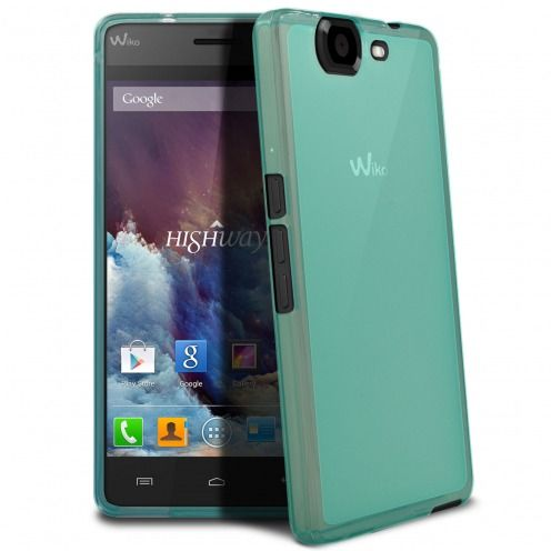 Coque Wiko Highway Frozen Ice Extra Fine Bleue
