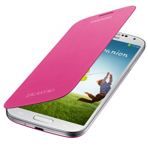 Photo réelle de Samsung Galaxy S4 Flip Cover origine Rose