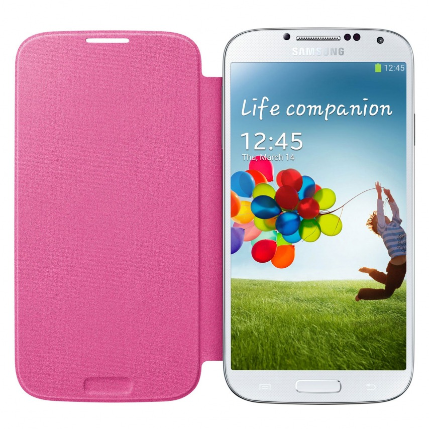 Zoom sur Samsung Galaxy S4 Flip Cover origine Rose