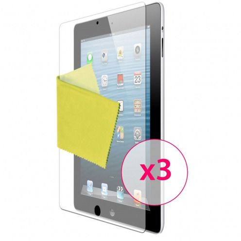 Films de protection Anti-Reflet iPad 2/3 et retina Clubcase ® Lot de 3