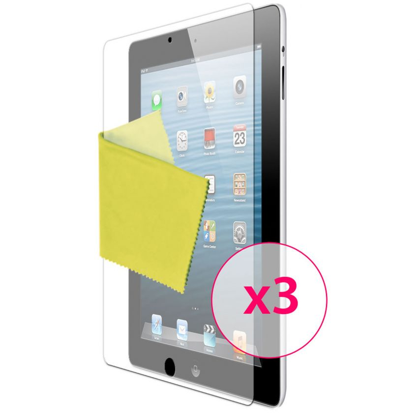Zoom sur Films de protection Anti-Reflet iPad 2/3 et retina Clubcase ® Lot de 3