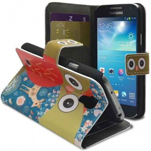 Smart Cover Galaxy S4 Mini à motif Hibou & Biche