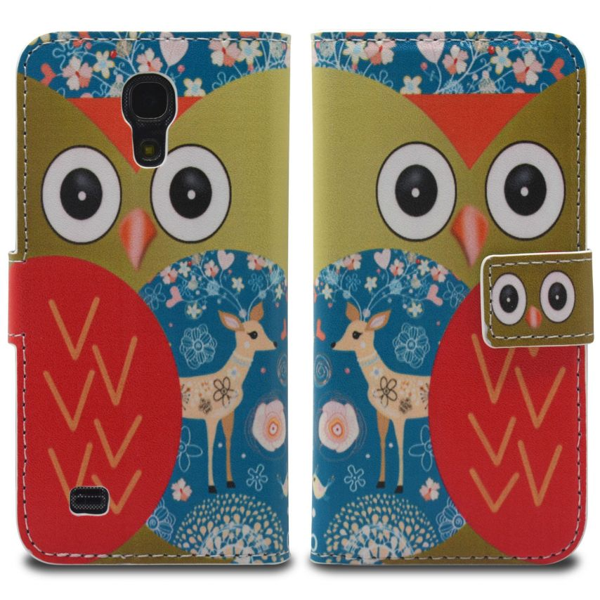 Vue portée de Smart Cover Galaxy S4 Mini à motif Hibou & Biche