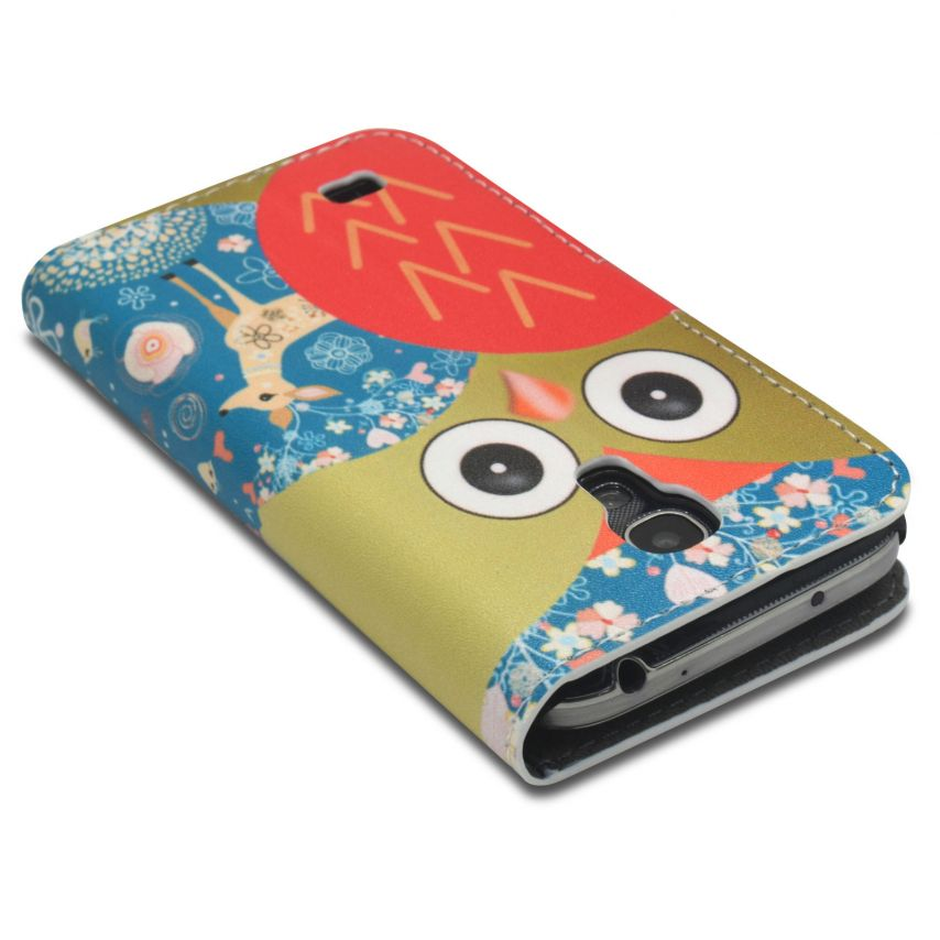 Visuel unique de Smart Cover Galaxy S4 Mini à motif Hibou & Biche