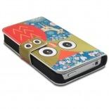 Visuel supplémentaire de Smart Cover iPhone 4/4S à motif Hibou & Biche