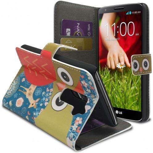 Smart Cover LG G2 à motif Hibou & Biche