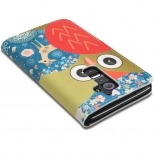 Visuel unique de Smart Cover LG G2 à motif Hibou & Biche
