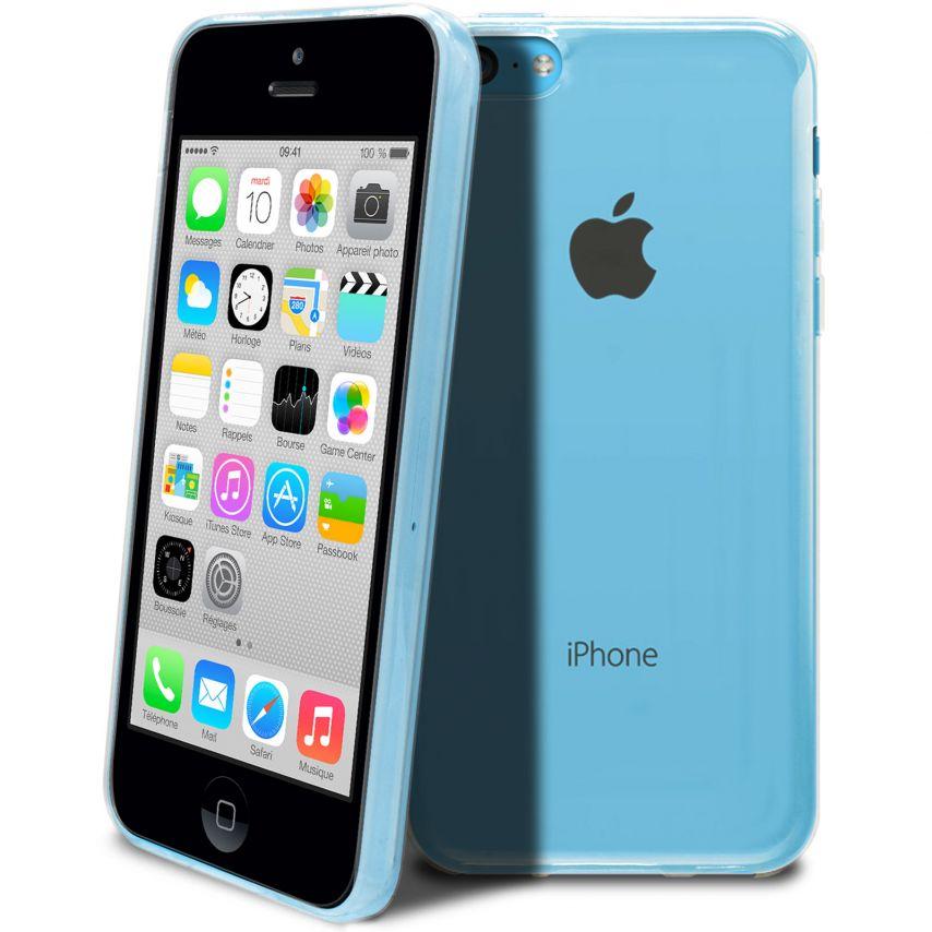 """Vue complémentaire de Coque Souple """"Crystal Clear"""" pour iPhone 5C"""