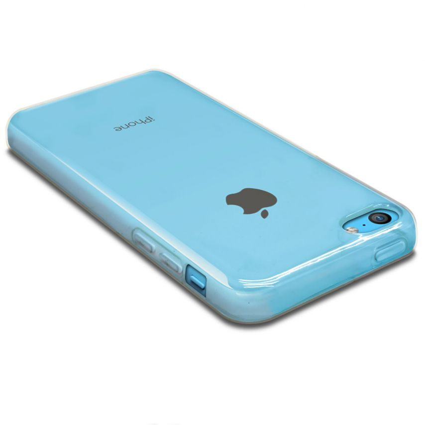 "Photo réelle de Coque Souple ""Crystal Clear"" pour iPhone 5C"