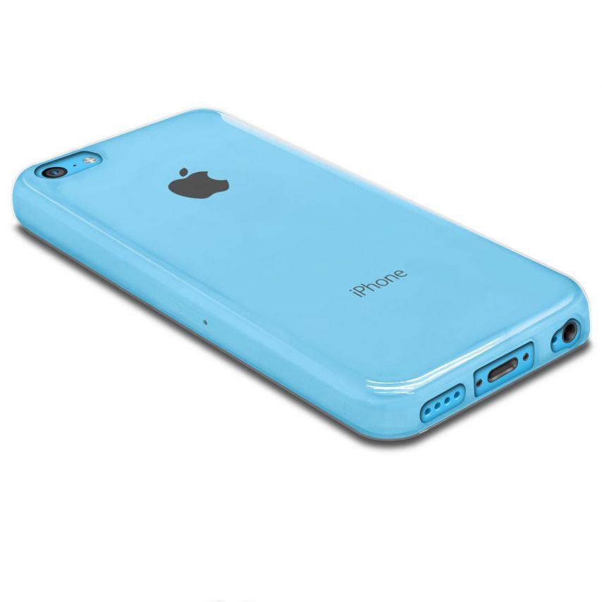 """Vue portée de Coque Souple """"Crystal Clear"""" pour iPhone 5C"""