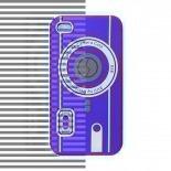 Visuel supplémentaire de Housse Silicone Camera Rouge pour iPhone 4S / 4