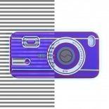 Vue complémentaire de Housse Silicone Camera Rouge pour iPhone 4S / 4