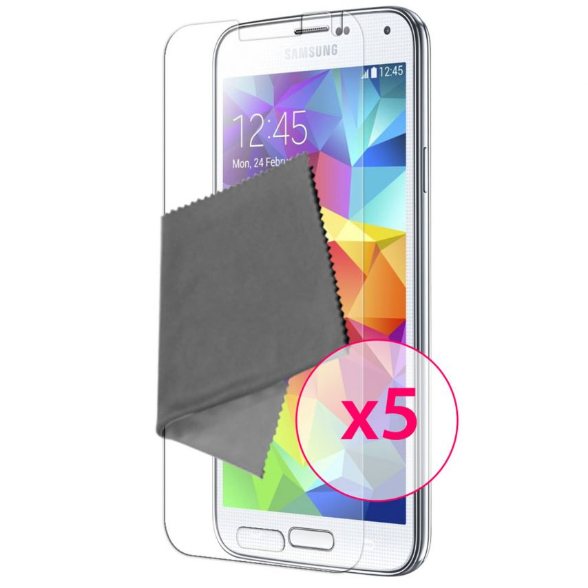 Zoom sur Films de protection Samsung Galaxy S5 Clubcase ® HD Lot de 5
