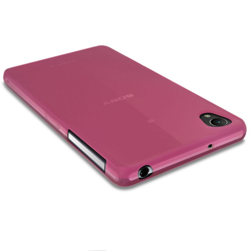 Photo réelle de Coque XPERIA Z2® Frozen Ice Extra Fine Rose