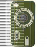 Vue complémentaire de Housse Silicone Camera Bleue pour iPhone 4S / 4