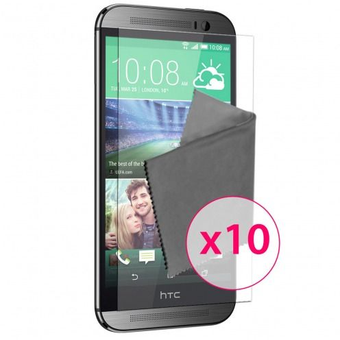 Films de protection HTC One M8 Clubcase ® HD Lot de 10