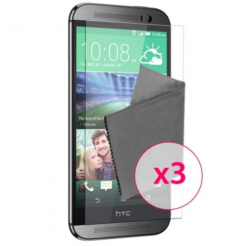 Films de protection HTC One M8 Clubcase ® HD Lot de 3