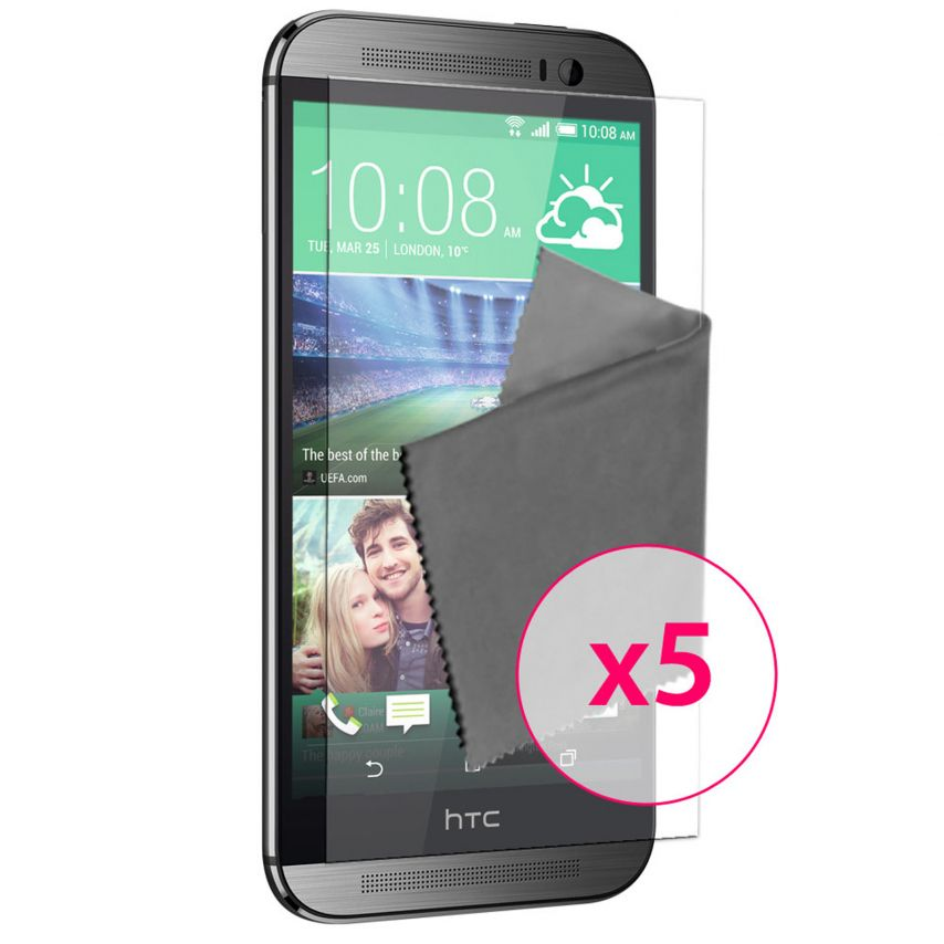Zoom sur Films de protection HTC One M8 Clubcase ® HD Lot de 5