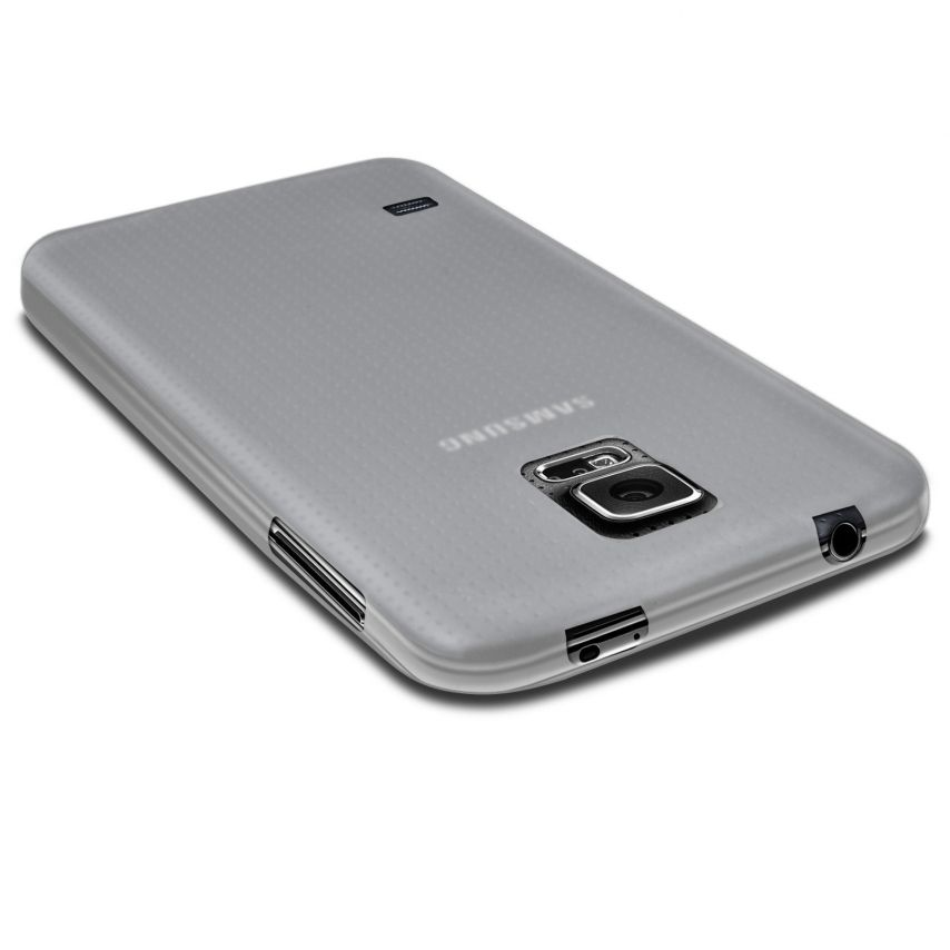 Photo réelle de Coque Ultra Fine 0.3mm Frost Samsung Galaxy S5 Transparente