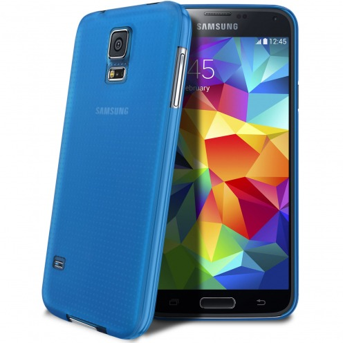 Coque Ultra Fine 0.3mm Frost Samsung Galaxy S5 bleue