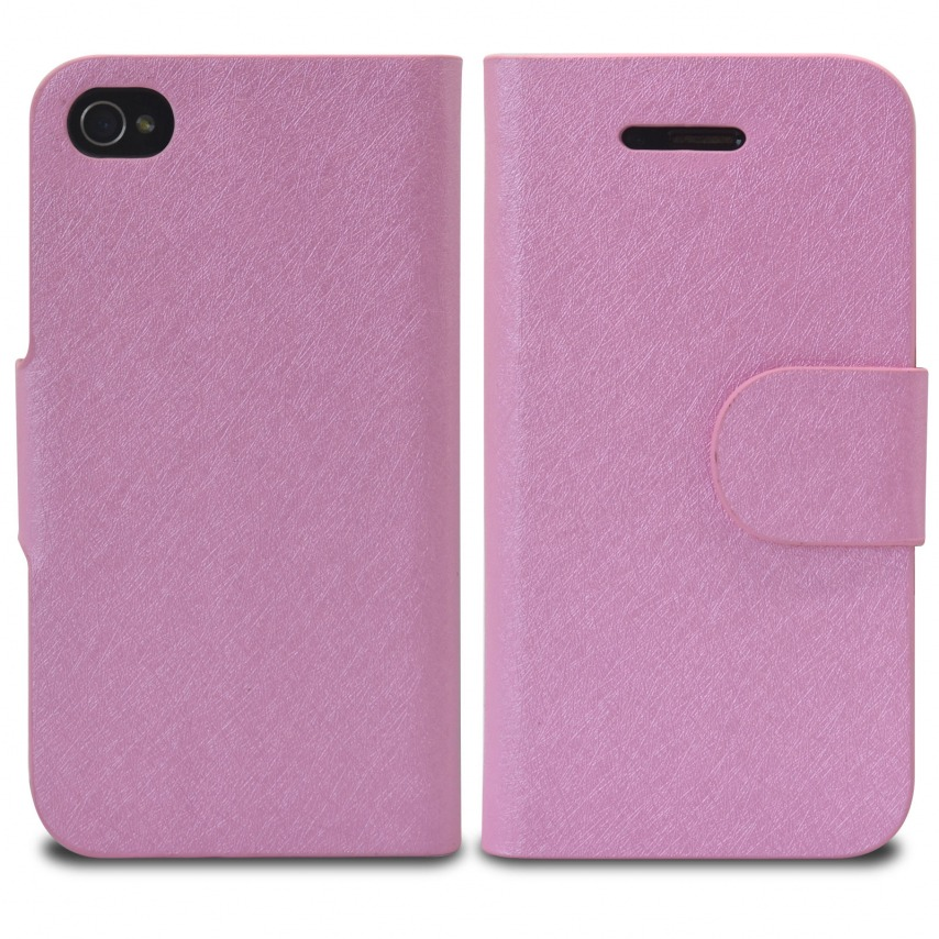 Vue portée de Smart Cover iPhone 4/4S Papyrus Rose