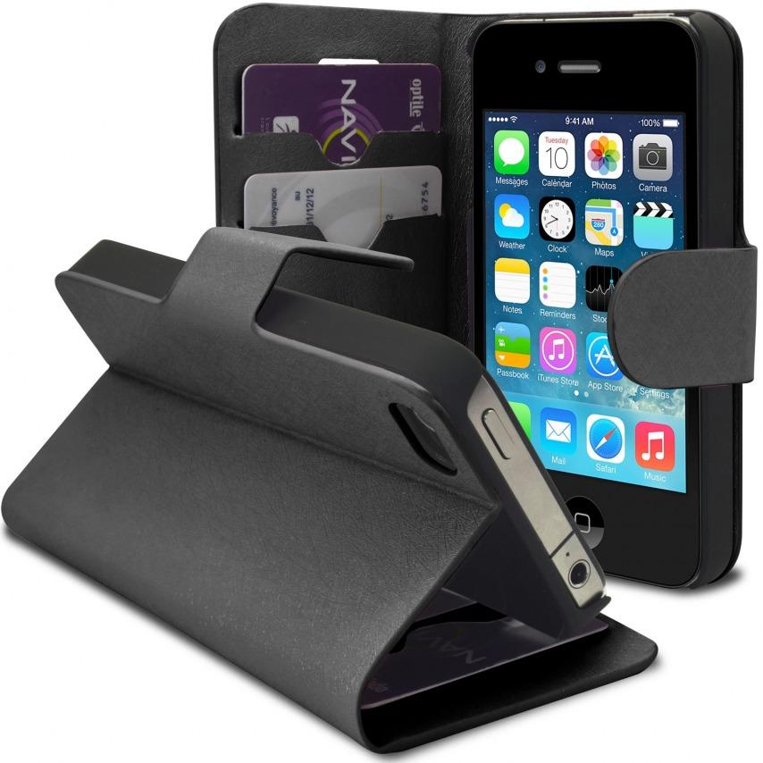 Vue complémentaire de Smart Cover iPhone 4/4S Papyrus Noire