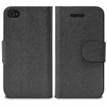 Vue portée de Smart Cover iPhone 4/4S Papyrus Noire