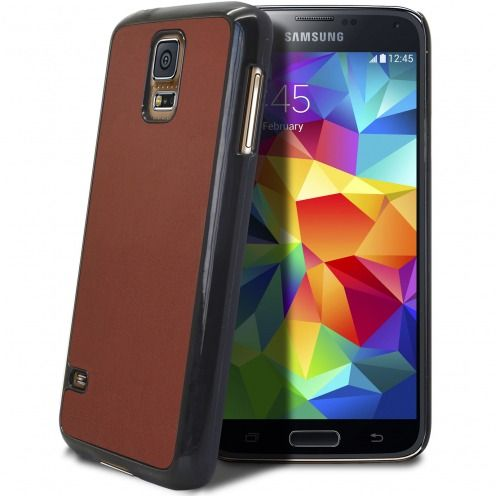 Coque Samsung Galaxy S5 Retro Leather Back Havane