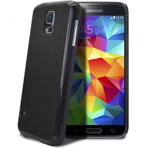 Coque Samsung Galaxy S5 Retro Leather Back Noire