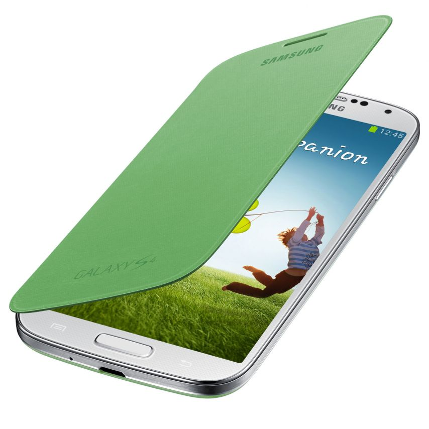 Photo réelle de Samsung Galaxy S4 Flip Cover origine Verte