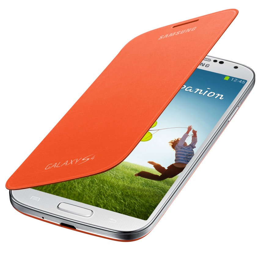 Photo réelle de Samsung Galaxy S4 Flip Cover origine Orange