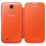 Vue portée de Samsung Galaxy S4 Flip Cover origine Orange