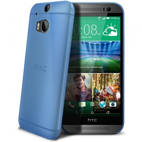 Coque Ultra Fine 0.3mm Frost HTC One M8 Bleue