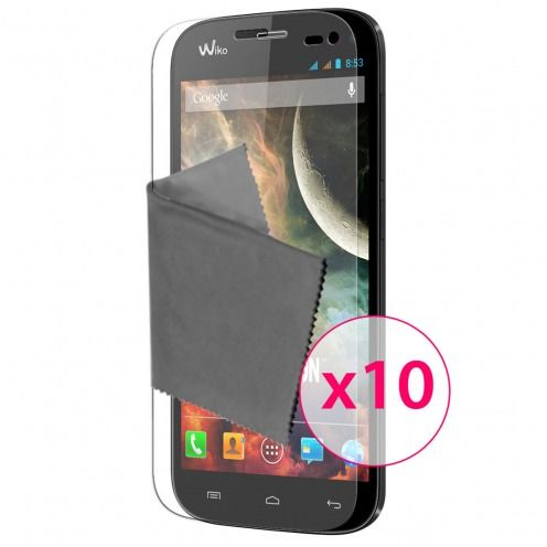 Films de protection Wiko Darkmoon Clubcase ® HD Lot de 10