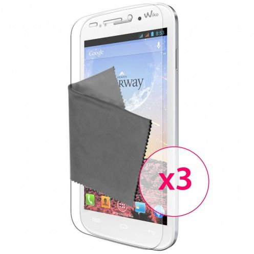 Films de protection Wiko Stairway Clubcase ® HD Lot de 3