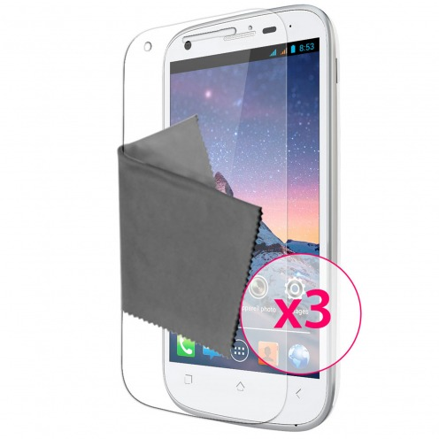 Films de protection Wiko Cink Peax & Peax 2 Clubcase ® HD Lot de 3