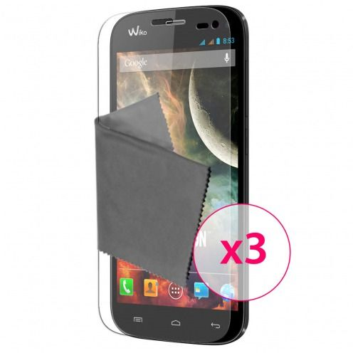 Zoom sur Films de protection Wiko Darkmoon Clubcase ® HD Lot de 3