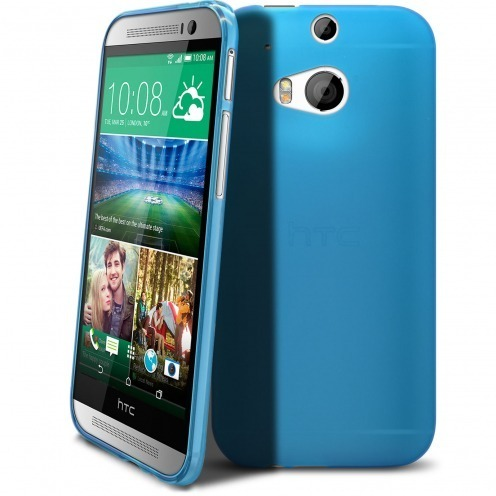 Coque HTC One M8 Frozen Ice Extra Fine Bleue