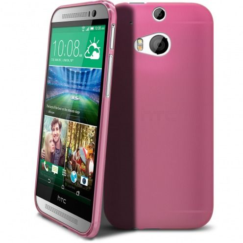 Coque HTC One M8 Frozen Ice Extra Fine Rose