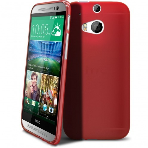 Coque HTC One M8 Frozen Ice Extra Fine Rouge