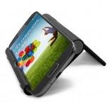 Vue portée de Support de bureau universel pour smartphones et tablettes noir brillant